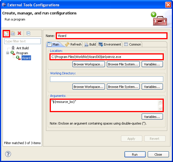 Configure External Tools